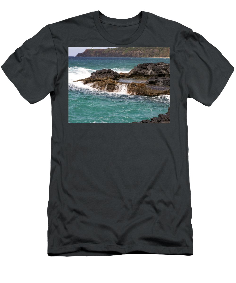 Beach Men's T-Shirt (Athletic Fit) featuring the photograph Secret Beach by Amy Fose