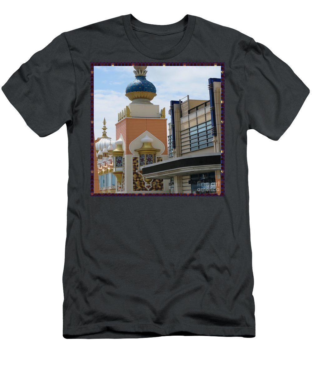 Tajmahal Men's T-Shirt (Athletic Fit) featuring the photograph Sectional View Tajmahal Hotel Atalantic Beaches And Board Walk America Photography By Navinjoshi At by Navin Joshi