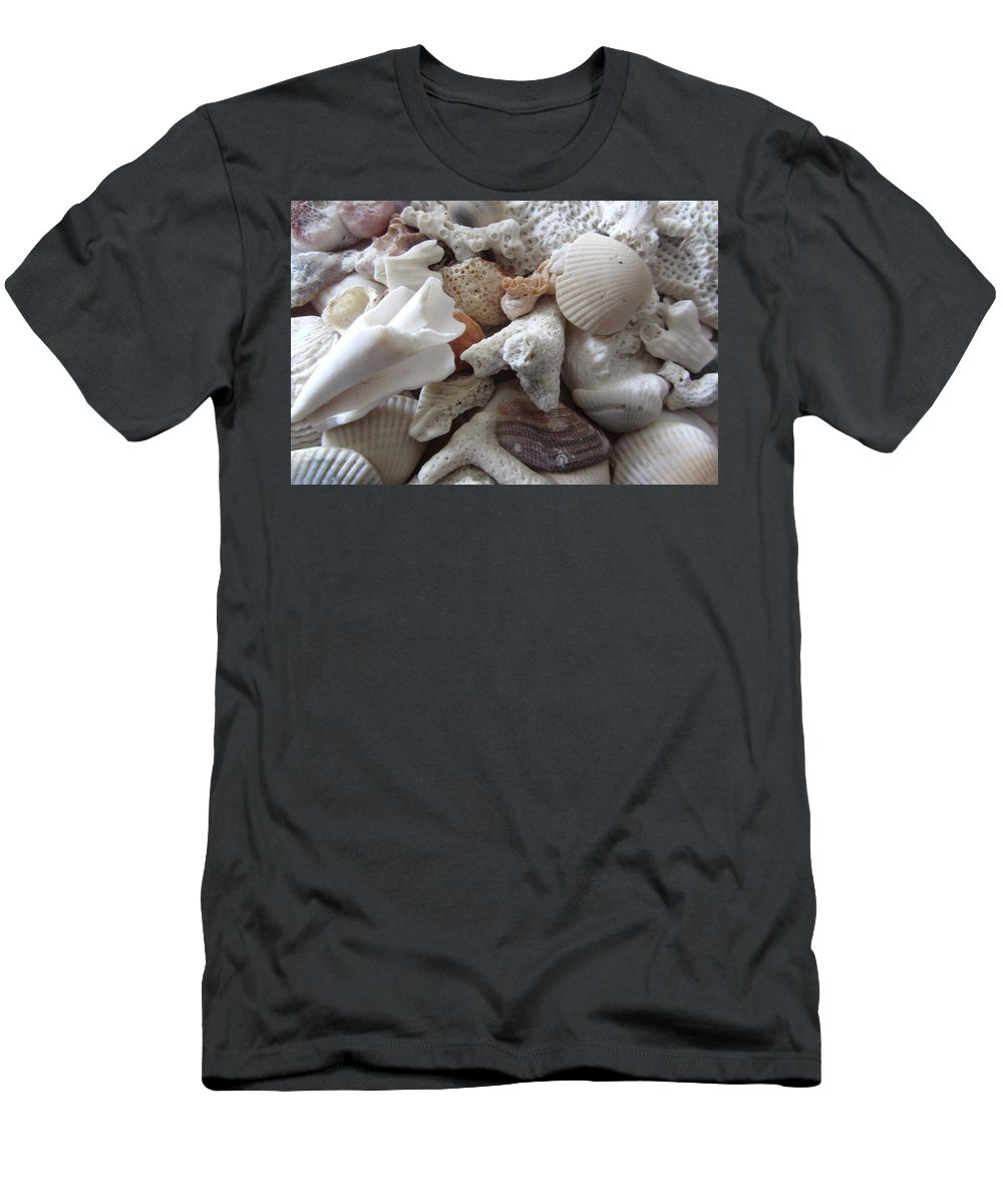 Shells Men's T-Shirt (Athletic Fit) featuring the photograph See Sea Shells Fom The Sea by Janremi B