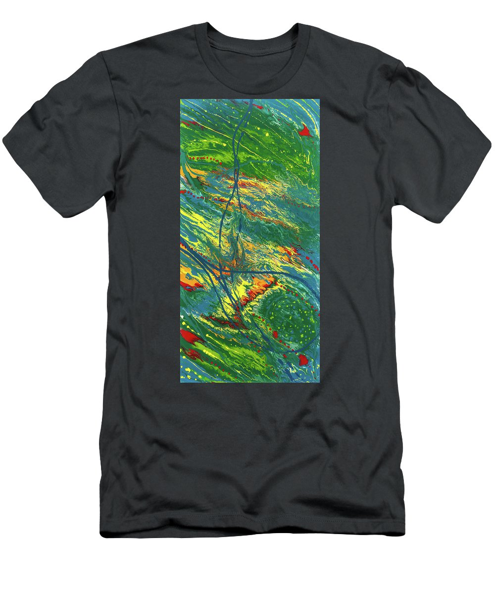 Abstract Men's T-Shirt (Athletic Fit) featuring the painting Sentinel Universe by Dianne Bartlett
