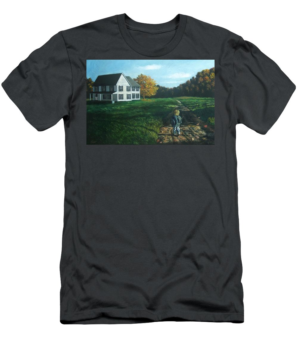 Pennsylvania Men's T-Shirt (Athletic Fit) featuring the painting September Breeze Number 4 by Christopher Shellhammer