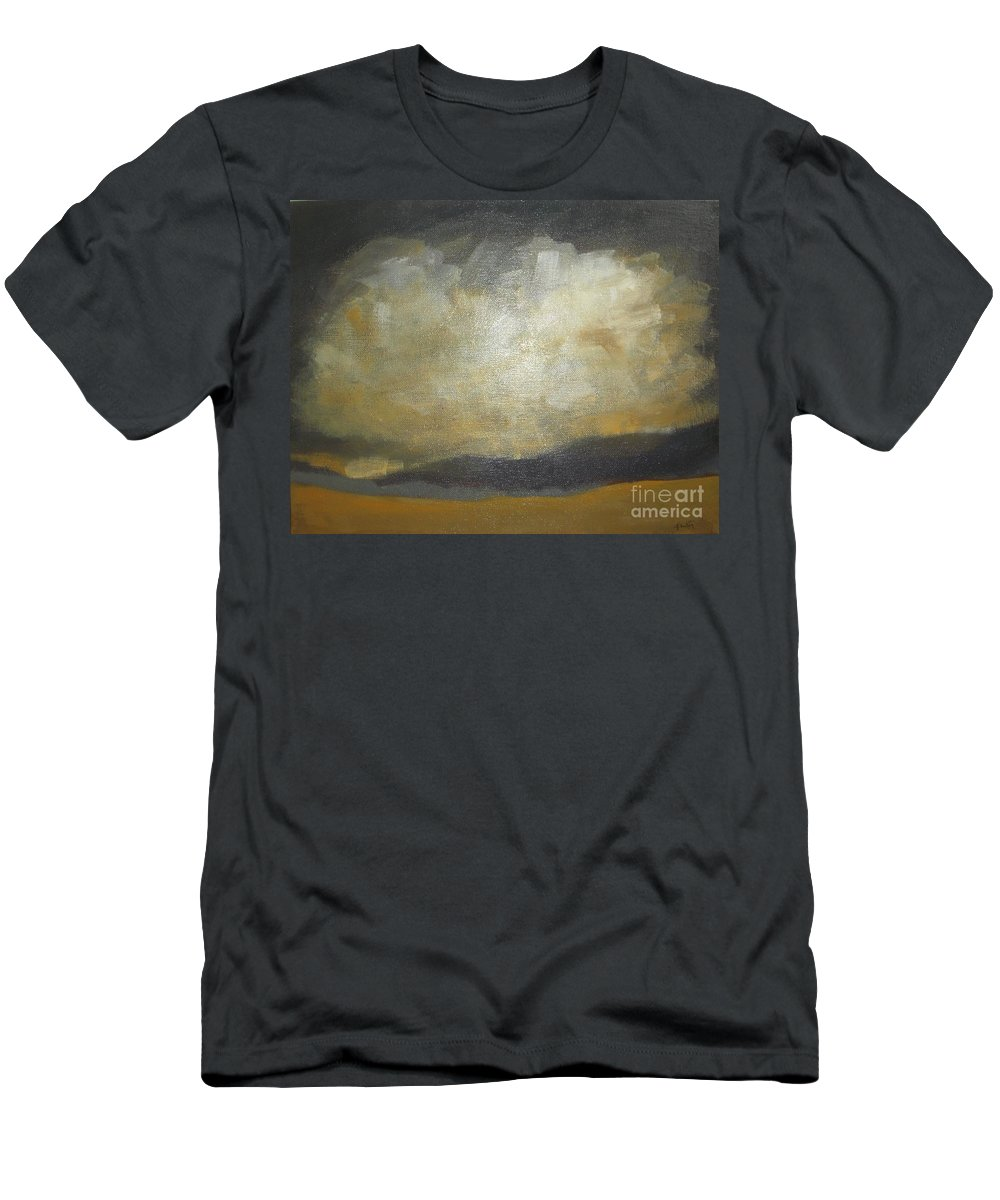 Abstract Landscape Men's T-Shirt (Athletic Fit) featuring the painting September Evening by Vesna Antic