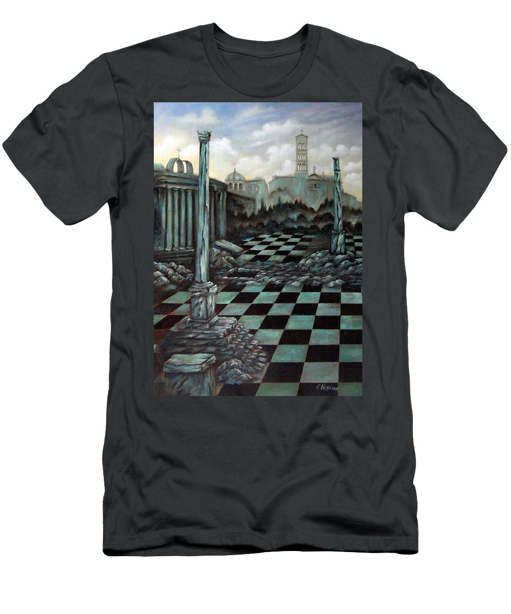 Surreal Men's T-Shirt (Athletic Fit) featuring the painting Sepulchre by Valerie Vescovi