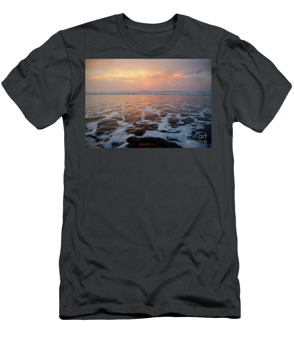 Sea Men's T-Shirt (Athletic Fit) featuring the photograph Serenity At The Sea by Iris Greenwell