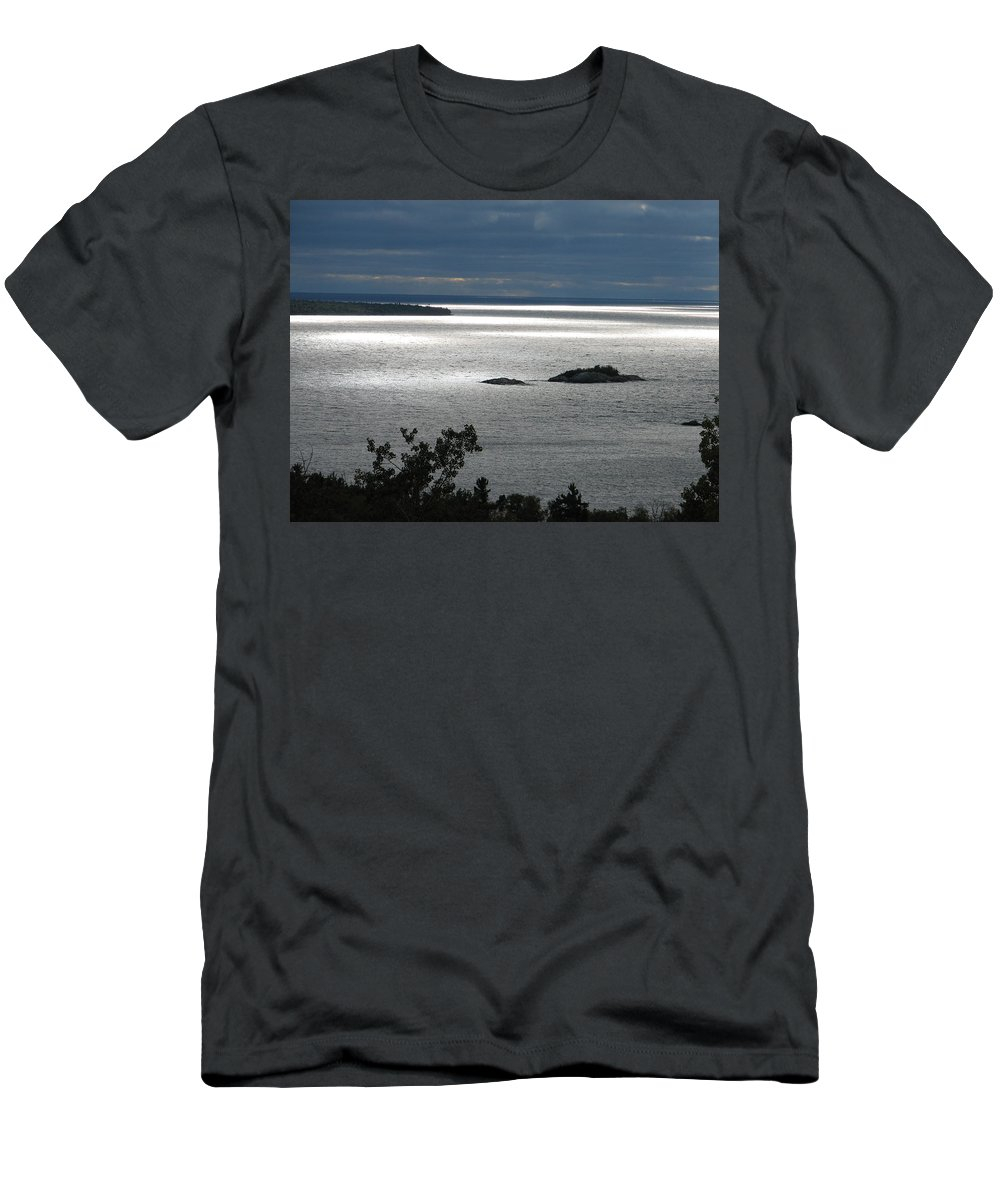 Lake Men's T-Shirt (Athletic Fit) featuring the photograph Serenity by Kelly Mezzapelle