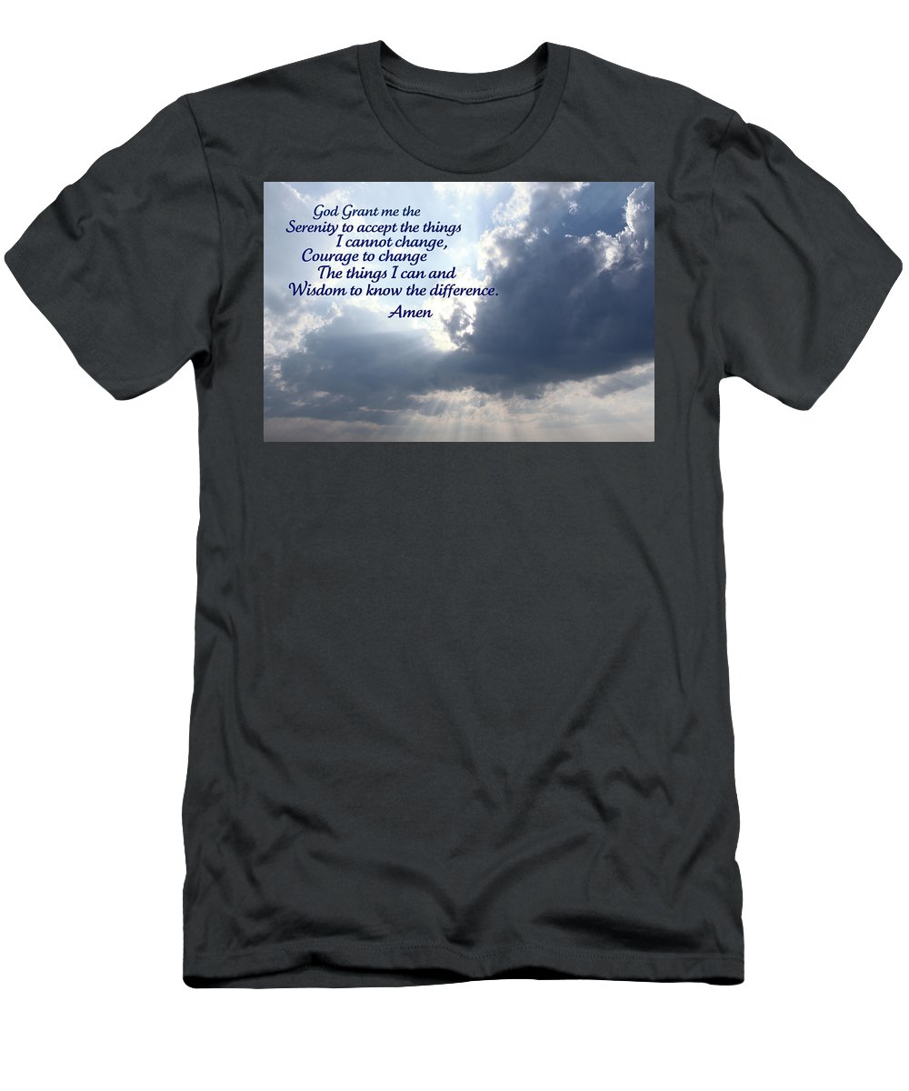 Serenity Men's T-Shirt (Athletic Fit) featuring the photograph Serenity Prayer by Tina Meador