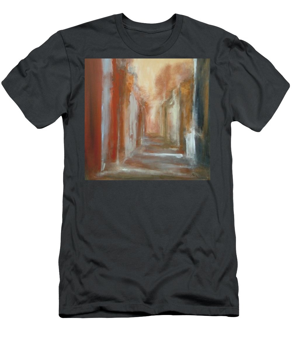 Abstract Men's T-Shirt (Athletic Fit) featuring the painting Serenity by Rome Matikonyte