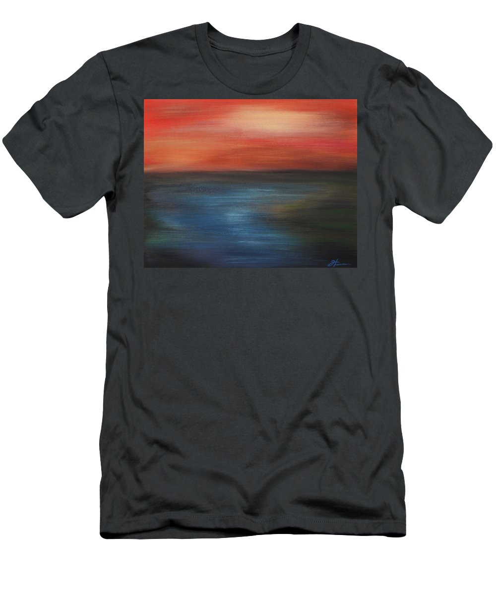 Scenic Men's T-Shirt (Athletic Fit) featuring the painting Serenity by Todd Hoover
