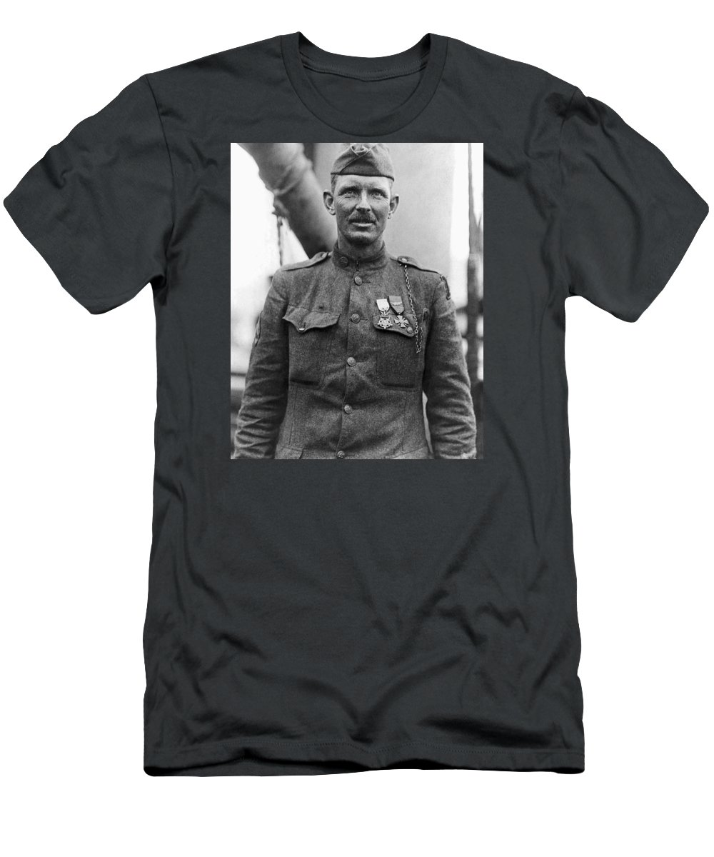 Alvin York T-Shirt featuring the photograph Sergeant York - World War I Portrait by War Is Hell Store