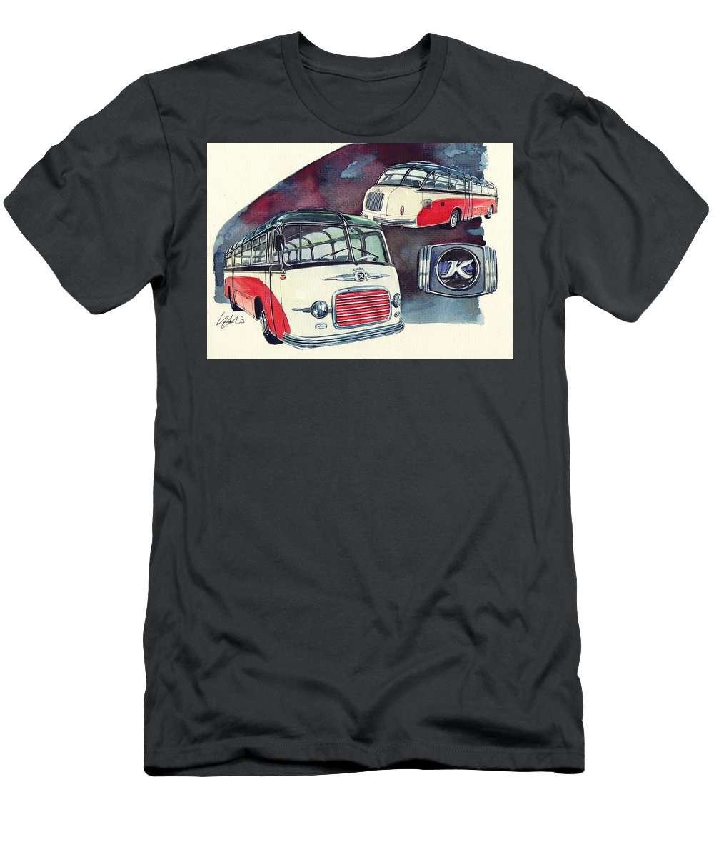 Setra Bus Kassbohrer S11 (1959) Men's T-Shirt (Athletic Fit) featuring the painting Setra Bus Kassbohrer S11 by Yoshiharu Miyakawa
