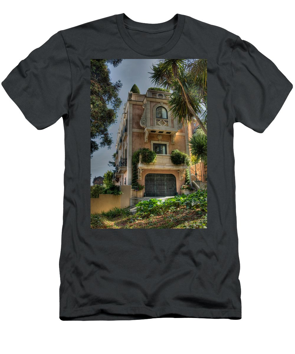 Architecture Men's T-Shirt (Athletic Fit) featuring the photograph Sf Grandeur by Laura Macky