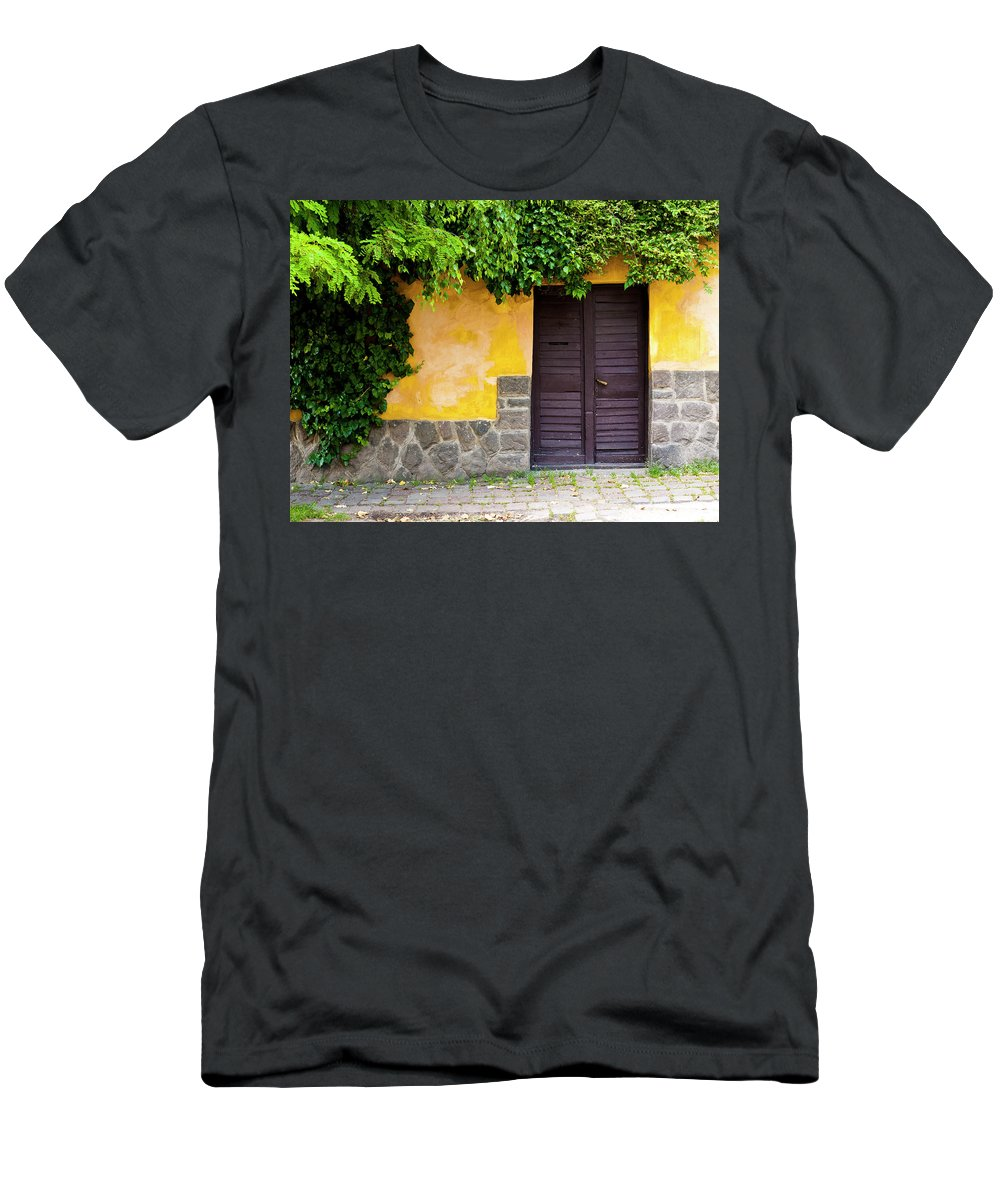 Szentendre Men's T-Shirt (Athletic Fit) featuring the photograph Shaded Entrance by Rae Tucker