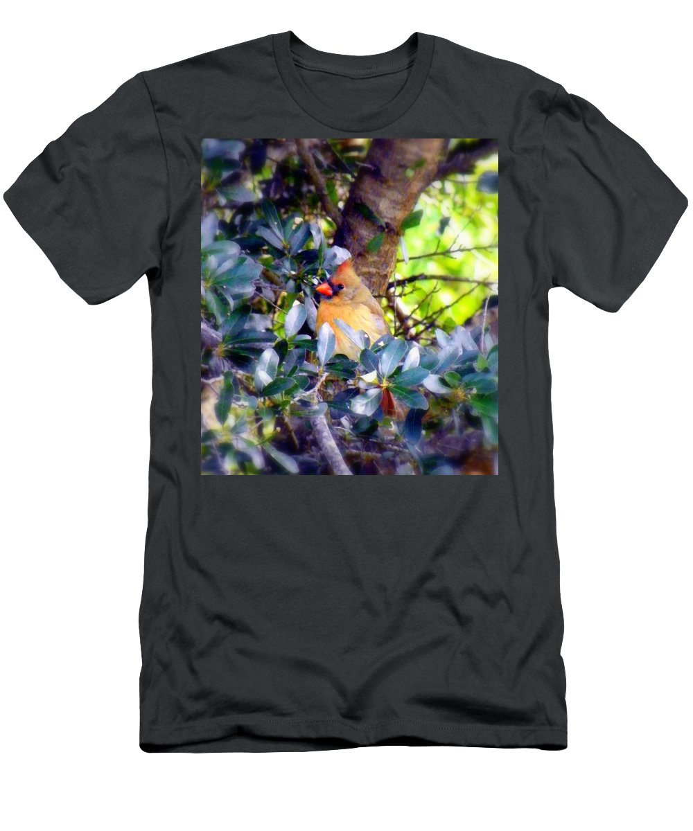 Cardinal Men's T-Shirt (Athletic Fit) featuring the photograph She Waits by Karen Wiles