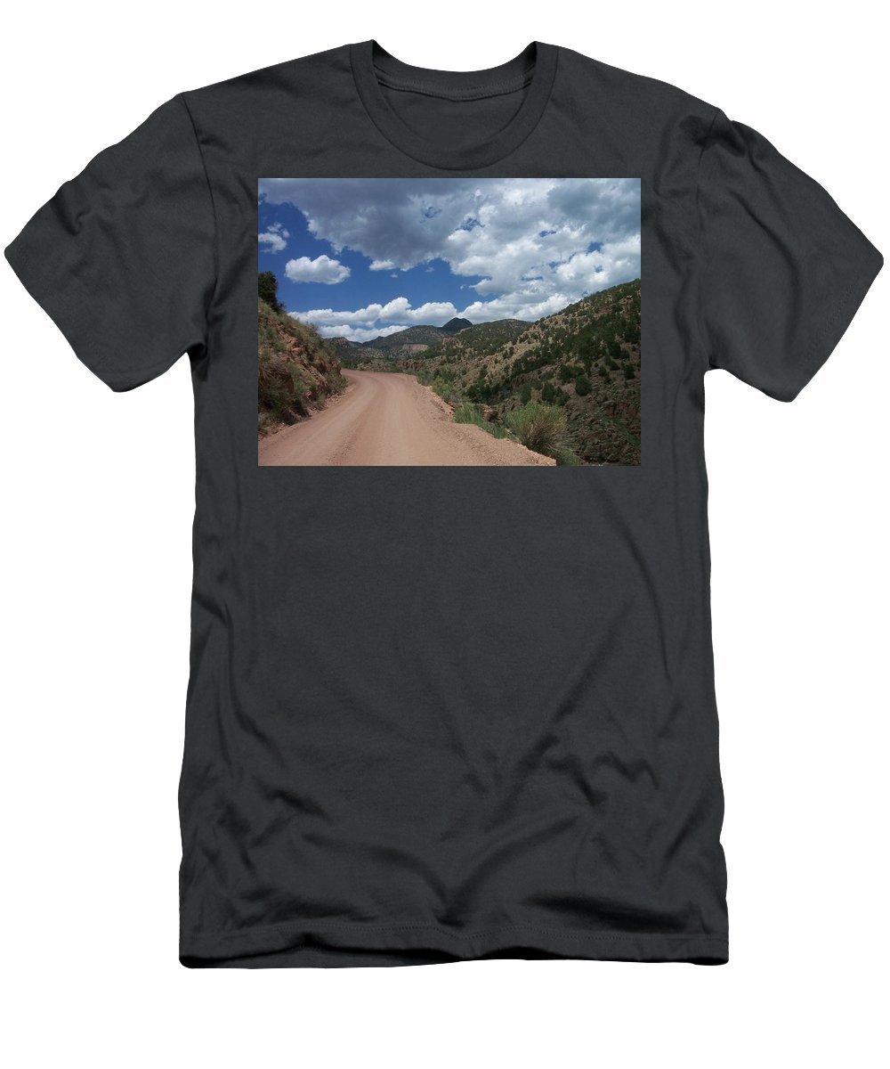 Shelf Road Men's T-Shirt (Athletic Fit) featuring the photograph Shelf Road by Anita Burgermeister