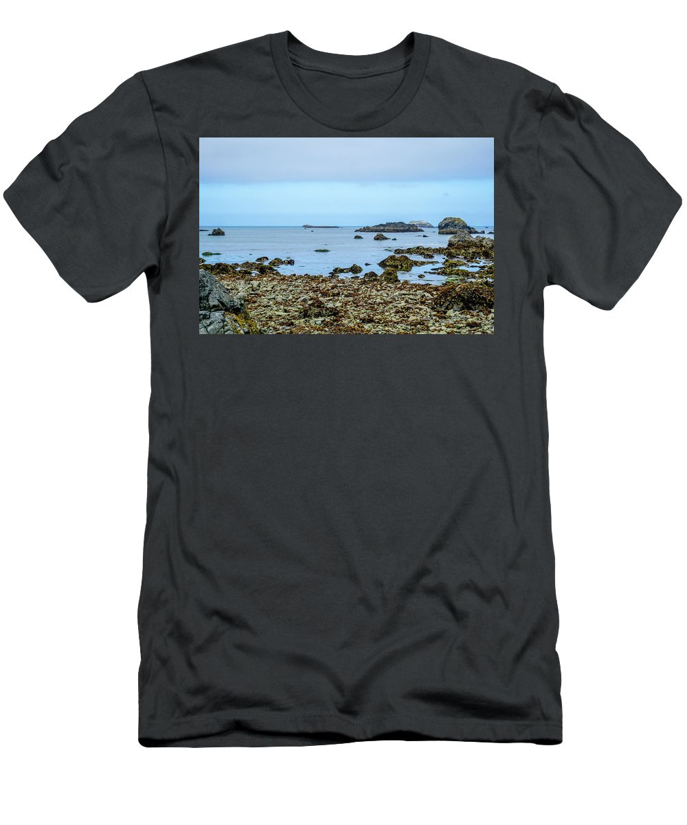 Shoreline Men's T-Shirt (Athletic Fit) featuring the photograph Shoreline by Ric Schafer