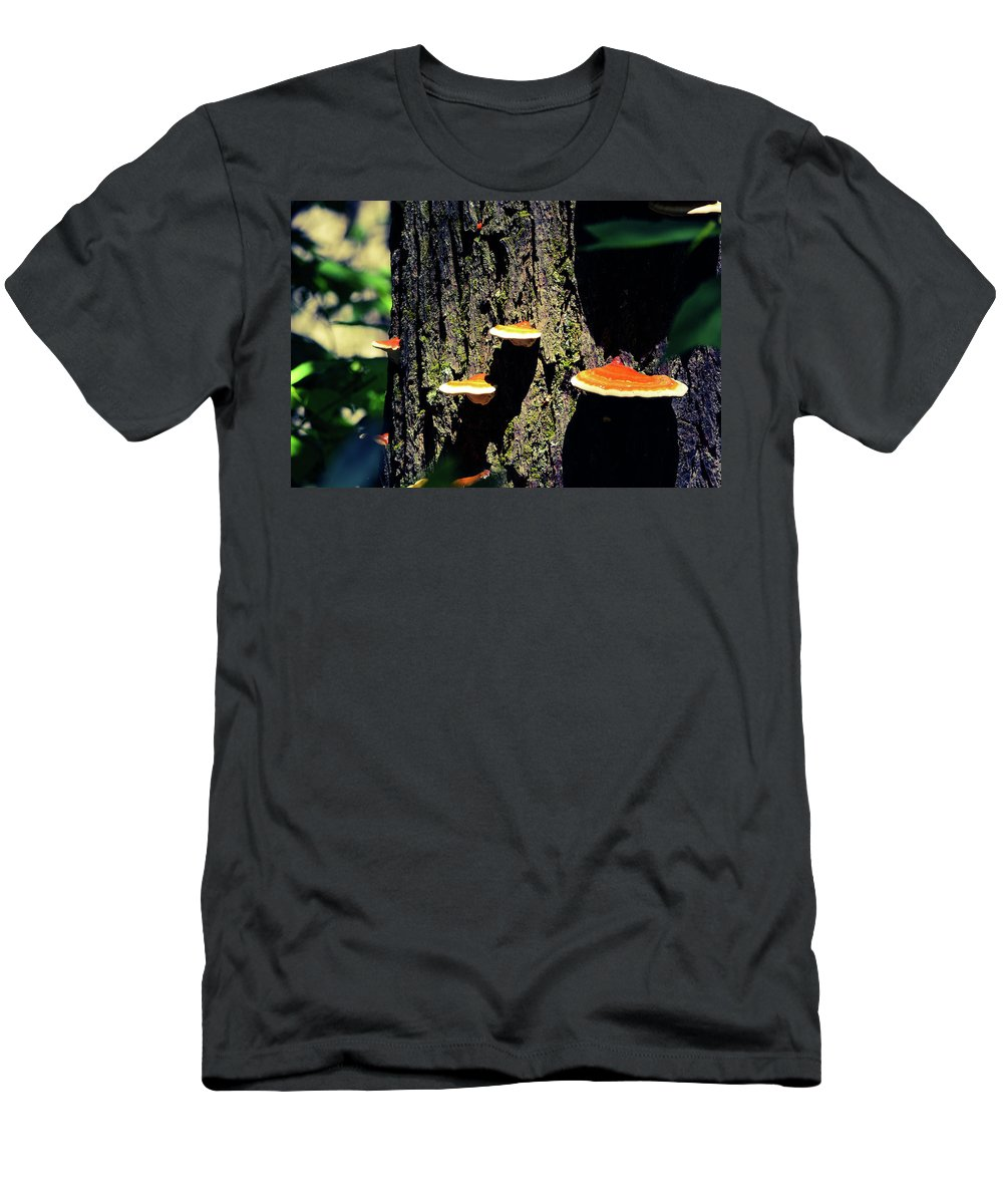 Landscape Men's T-Shirt (Athletic Fit) featuring the photograph Shroomtree by Christina Zizzo