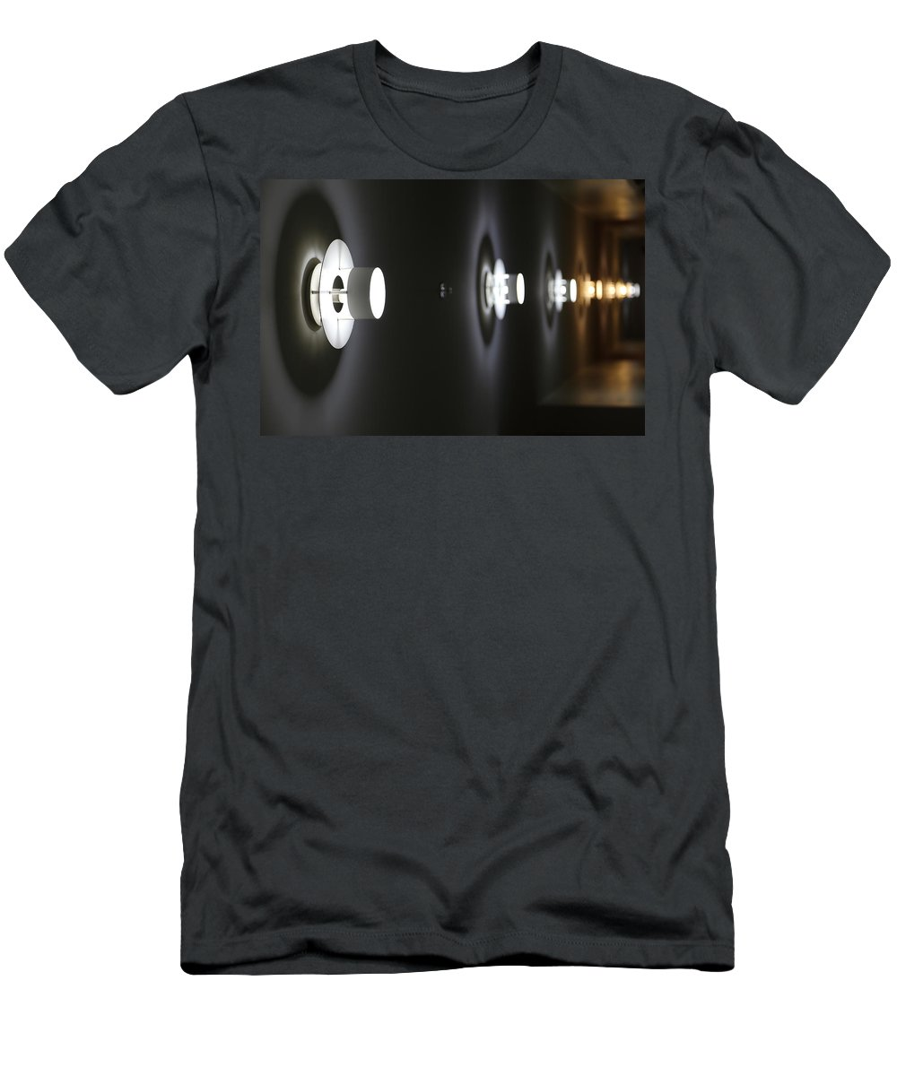 Abstract Men's T-Shirt (Athletic Fit) featuring the photograph Side Hall by The Artist Project