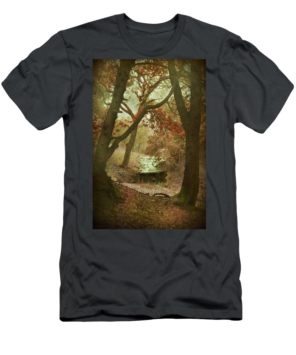 Stream Men's T-Shirt (Athletic Fit) featuring the photograph Sighs Of Love by Laurie Search