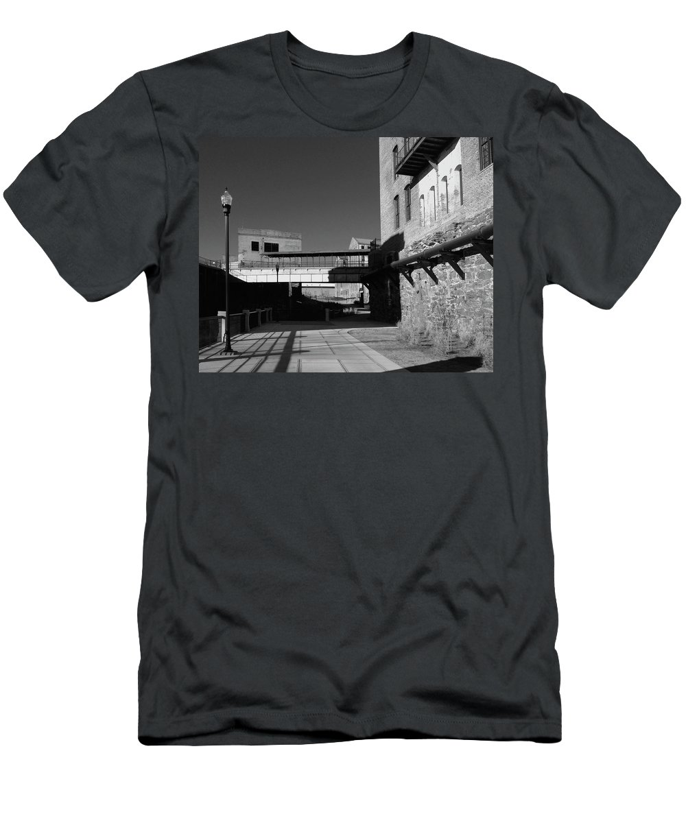 Architecture Men's T-Shirt (Athletic Fit) featuring the photograph Silence On The Banks Of The Chattahoochee by Dick Goodman
