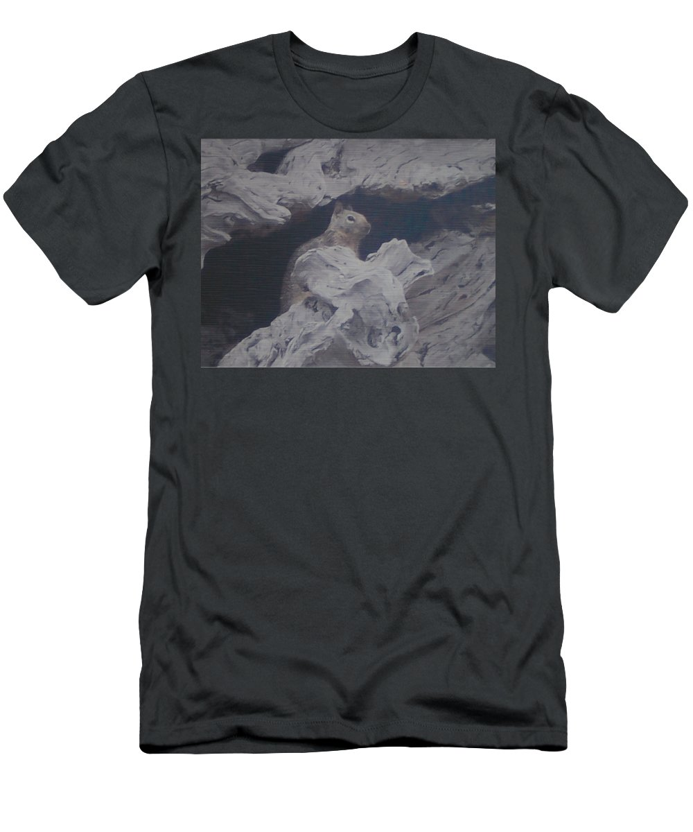 Squirrel Men's T-Shirt (Athletic Fit) featuring the photograph Silent Observer by Pharris Art