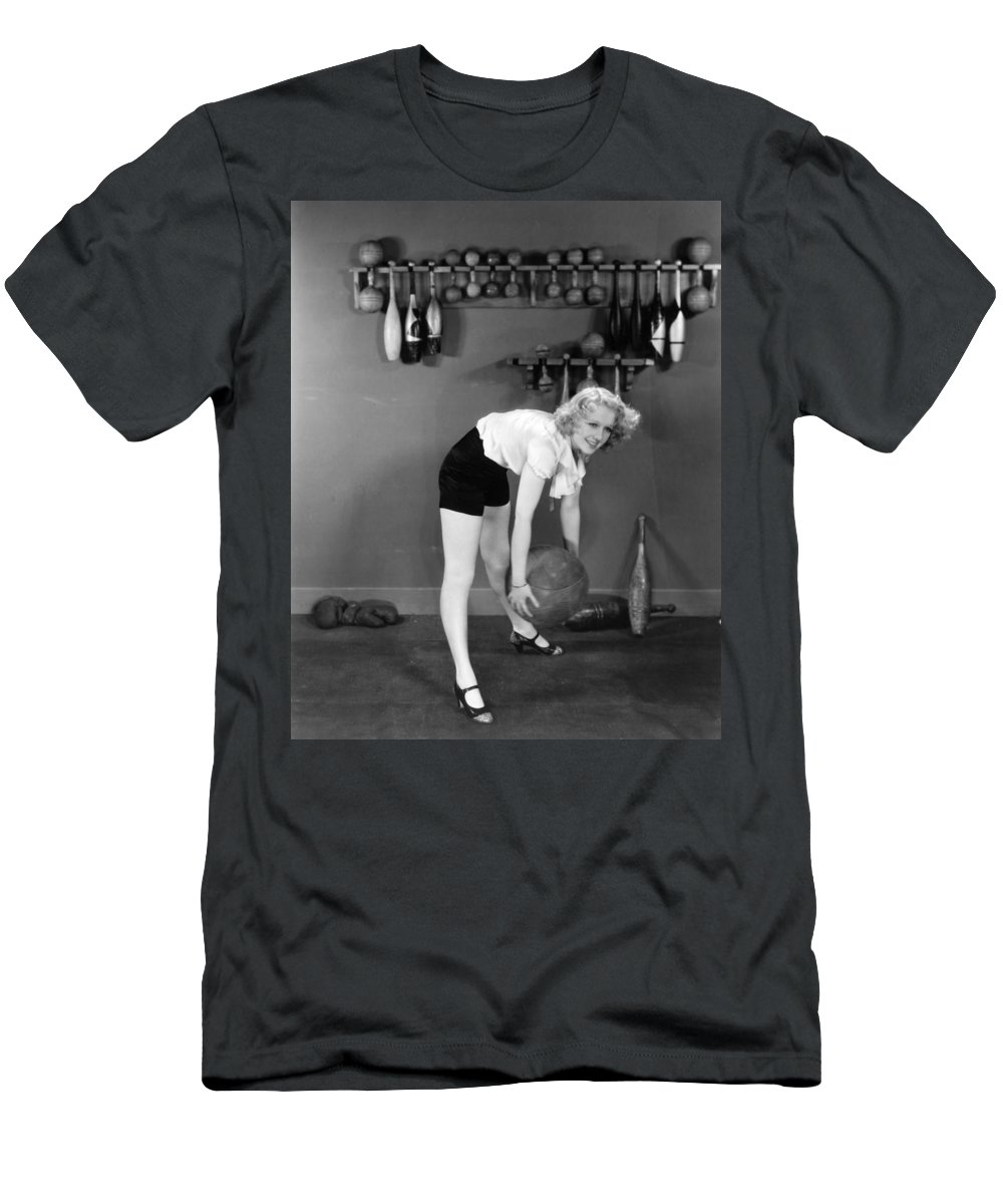 -weight & Exercise- Men's T-Shirt (Athletic Fit) featuring the photograph Silent Still: Exercise by Granger