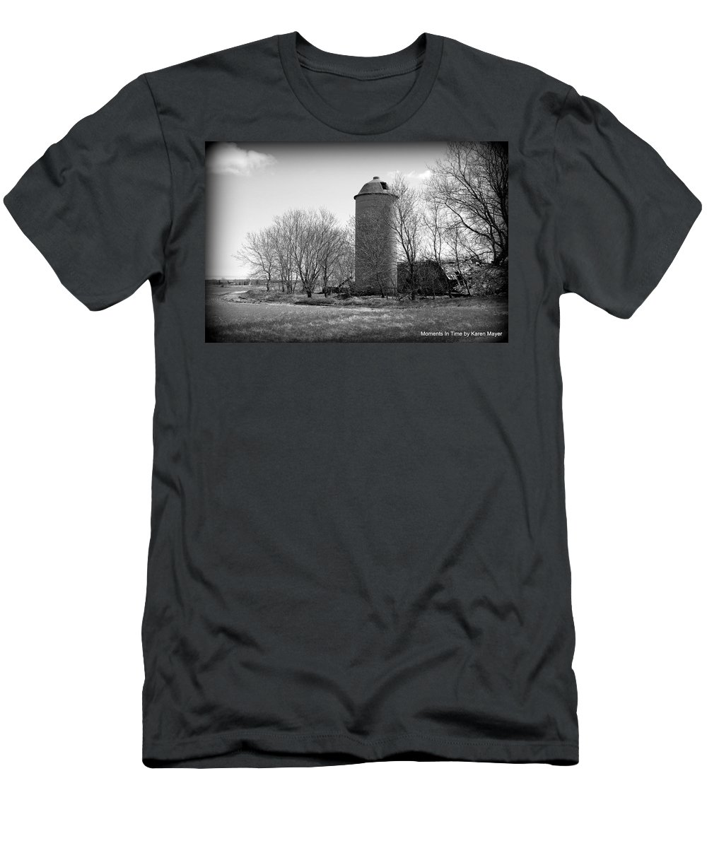 Men's T-Shirt (Athletic Fit) featuring the photograph Silo by Karen Mayer