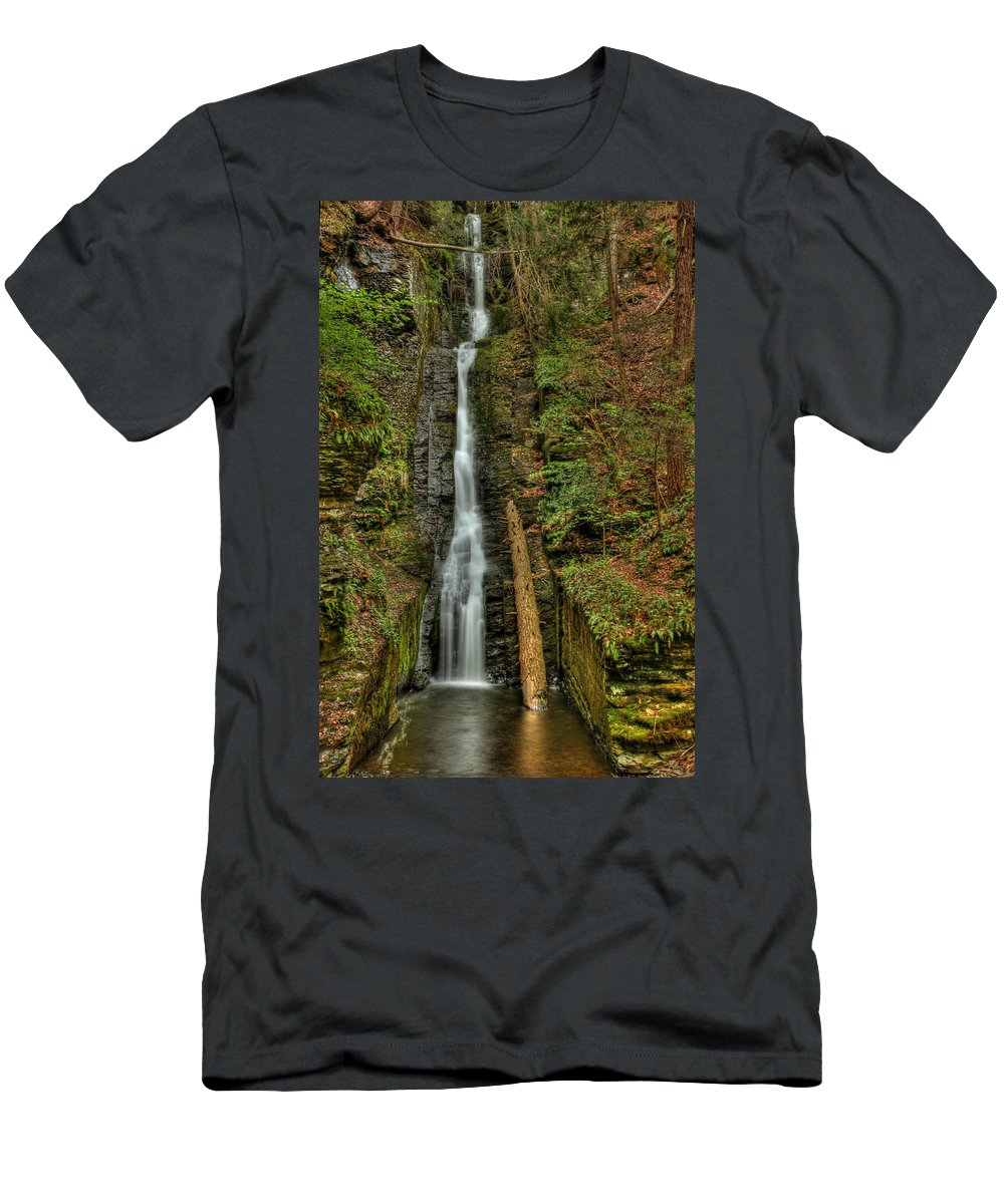 Silver Thread Men's T-Shirt (Athletic Fit) featuring the photograph Silver Thread by Evelina Kremsdorf