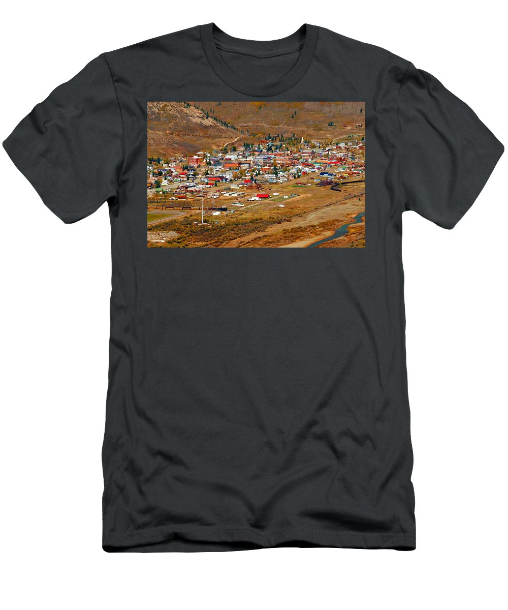 Silverton Colorado Men's T-Shirt (Athletic Fit) featuring the photograph Silverton Town Site by David Lee Thompson