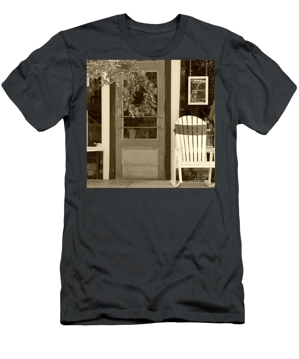 Rocking Chair Men's T-Shirt (Athletic Fit) featuring the photograph Simple Times by Debbi Granruth