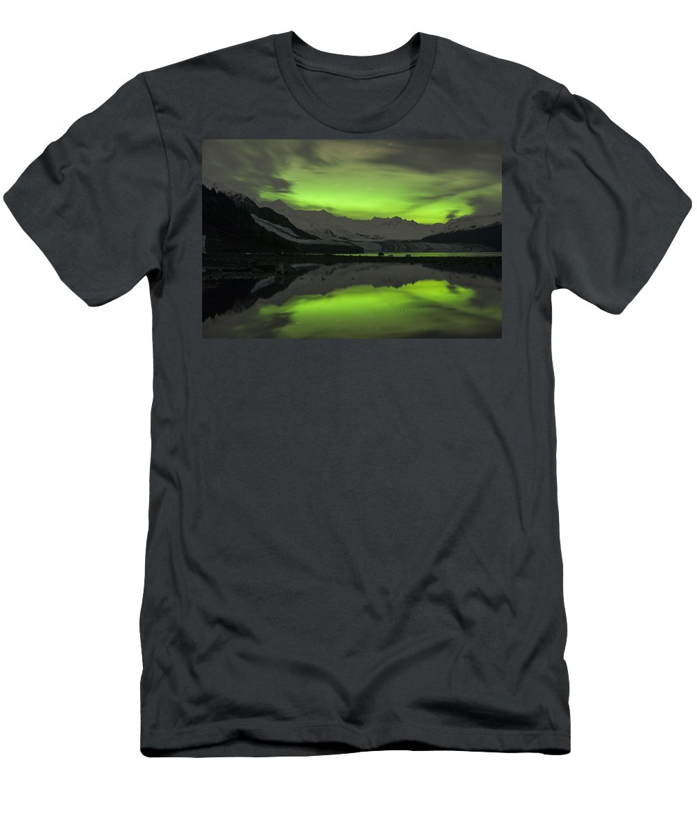 Aurora Men's T-Shirt (Athletic Fit) featuring the photograph Simply Glowing by Ted Raynor