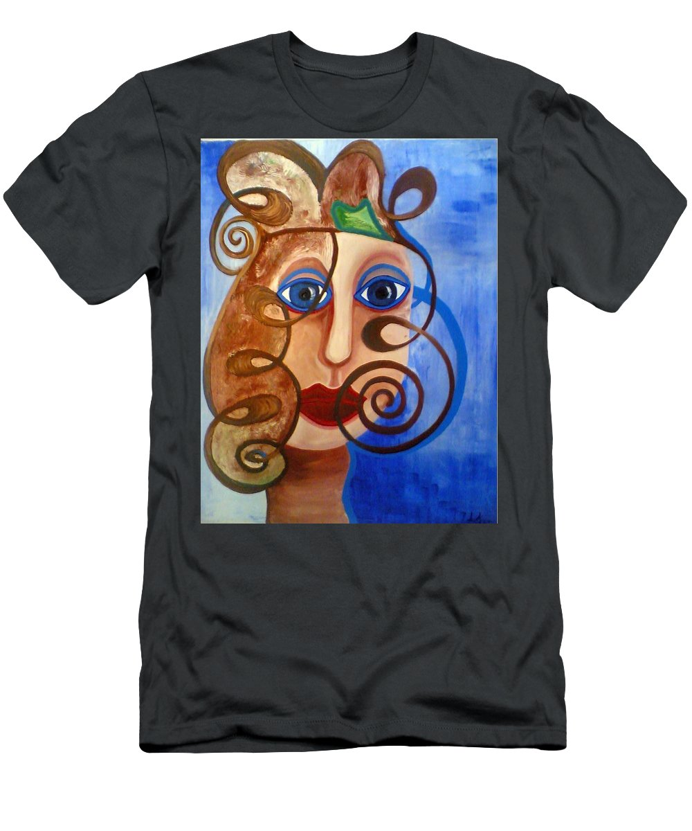 Sing Men's T-Shirt (Athletic Fit) featuring the painting Sing by Catt Kyriacou