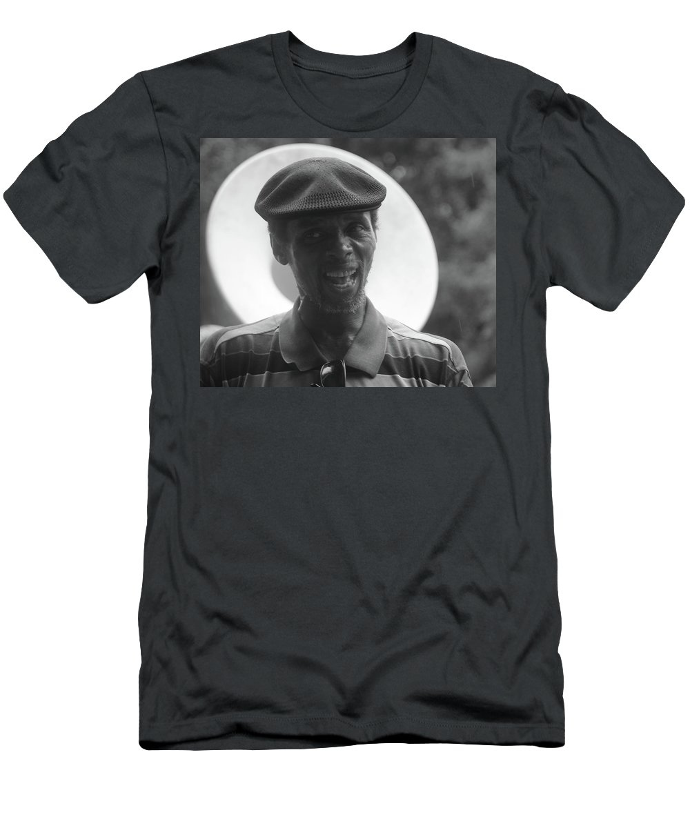 Artist Men's T-Shirt (Athletic Fit) featuring the photograph Singing In The Street by Michelle Powell