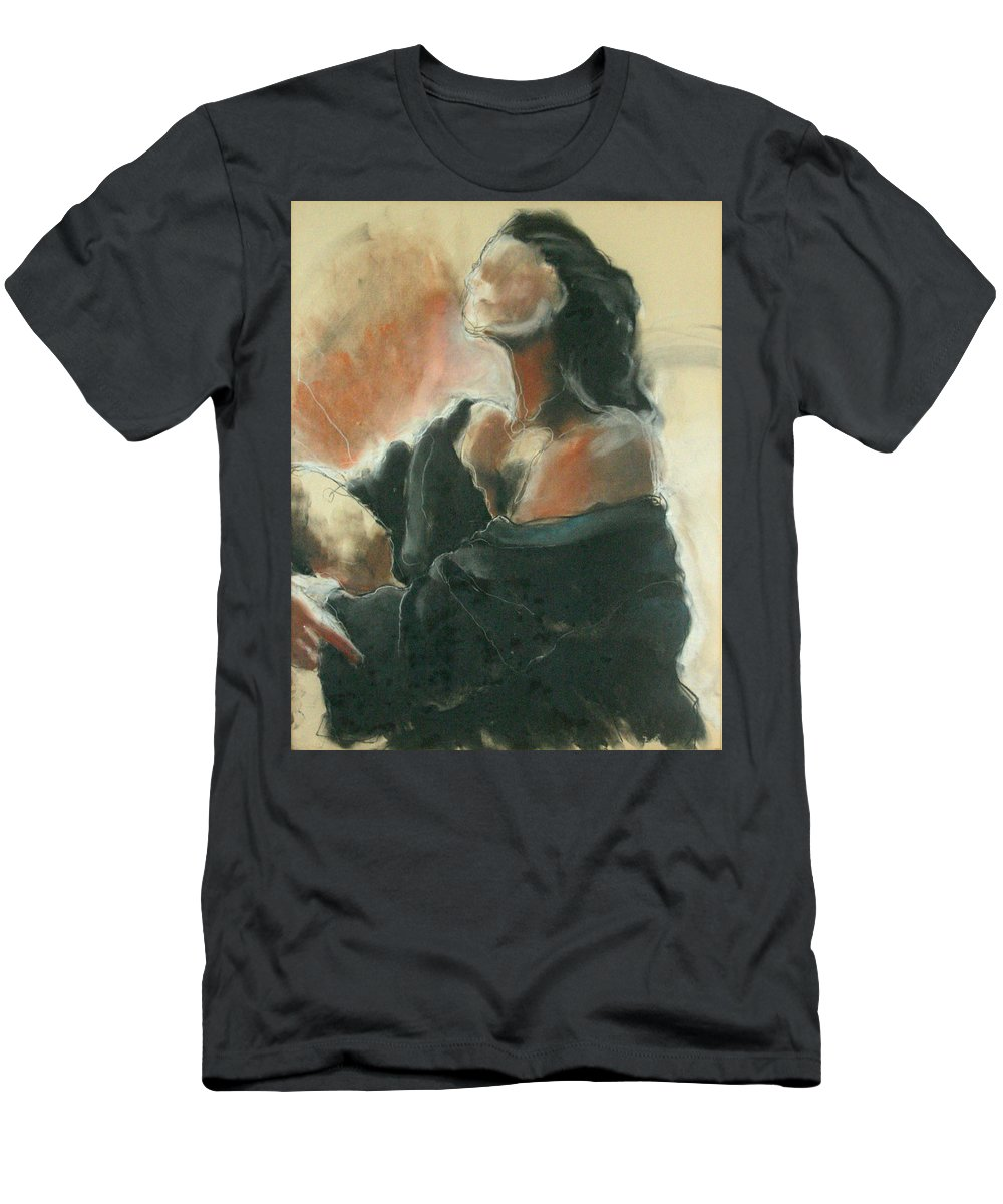 Painting Men's T-Shirt (Athletic Fit) featuring the painting Sitted Woman by Gideon Cohn