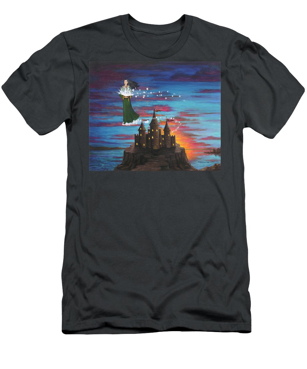 Wizard Men's T-Shirt (Athletic Fit) featuring the digital art Sky Walker by Roz Eve