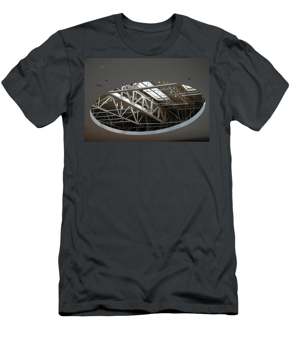 Ceiling Men's T-Shirt (Athletic Fit) featuring the photograph Skylight Gurders by Rob Hans