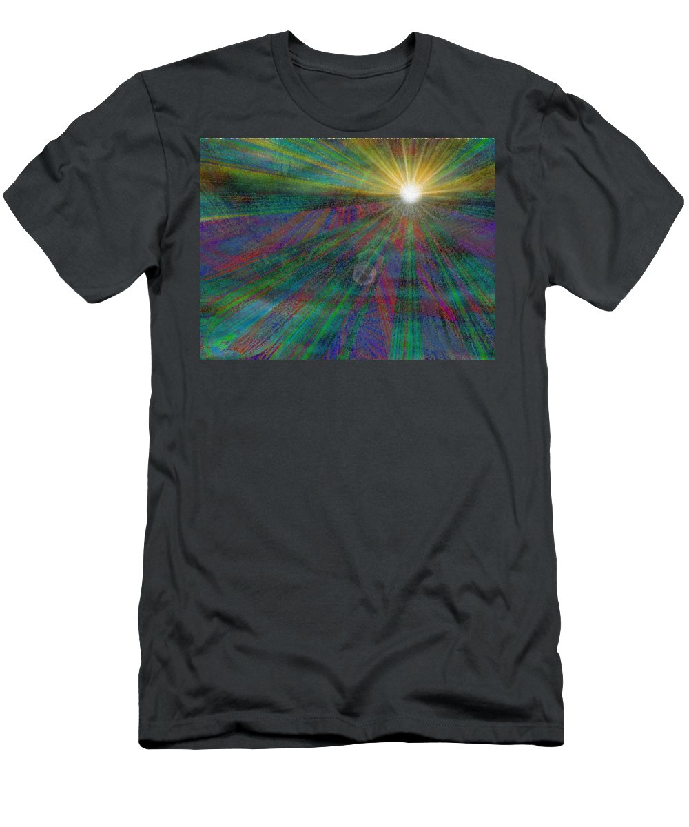 Abstract Men's T-Shirt (Athletic Fit) featuring the digital art Skyward 2 by Tim Allen