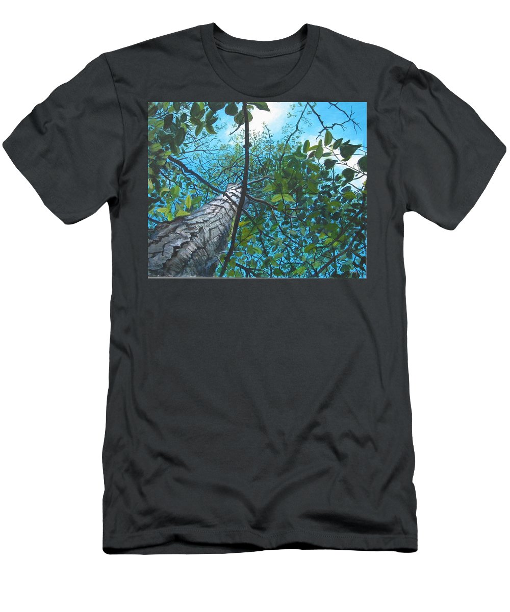 Landscape Men's T-Shirt (Slim Fit) featuring the painting Skyward by William Brody