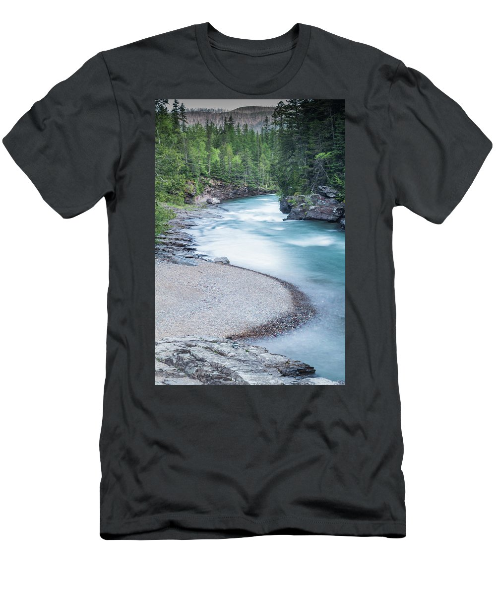Mcdonald Cree Men's T-Shirt (Athletic Fit) featuring the photograph Slow Down On Mcdonald Creek by Blake Passmore