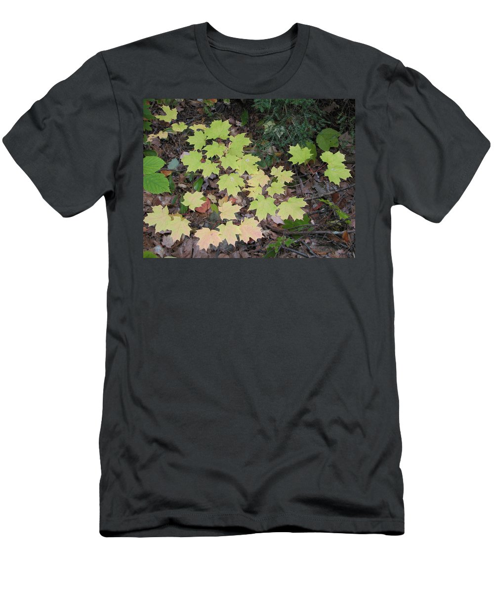 Leaves Men's T-Shirt (Athletic Fit) featuring the photograph Slow Fade by Kelly Mezzapelle