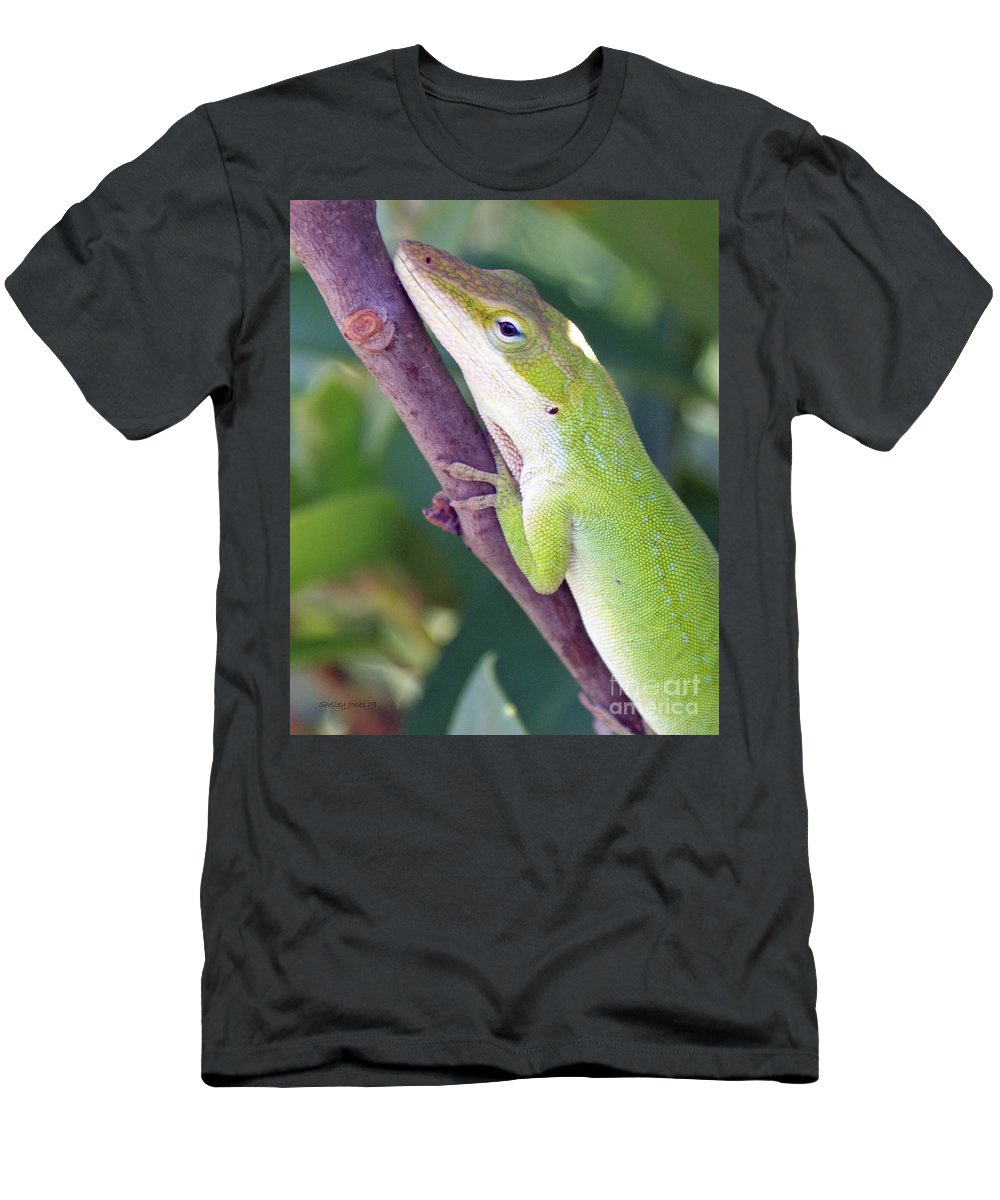 Animal Men's T-Shirt (Athletic Fit) featuring the photograph Smile by Shelley Jones