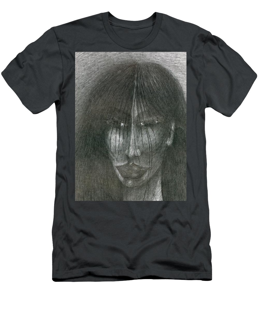 Psychedelic Men's T-Shirt (Athletic Fit) featuring the drawing Smile by Wojtek Kowalski
