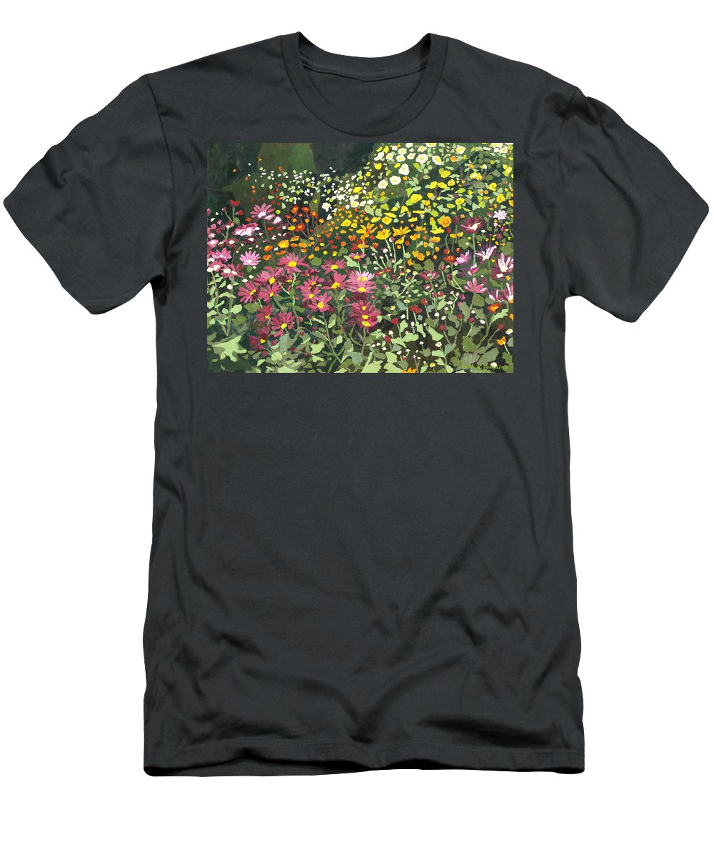 Floral Men's T-Shirt (Athletic Fit) featuring the painting Smith Mums by Leah Tomaino