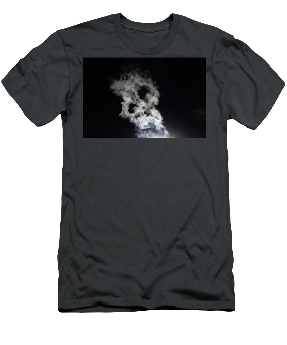 Skull Men's T-Shirt (Athletic Fit) featuring the photograph Smoke Skull by Betty-Anne McDonald