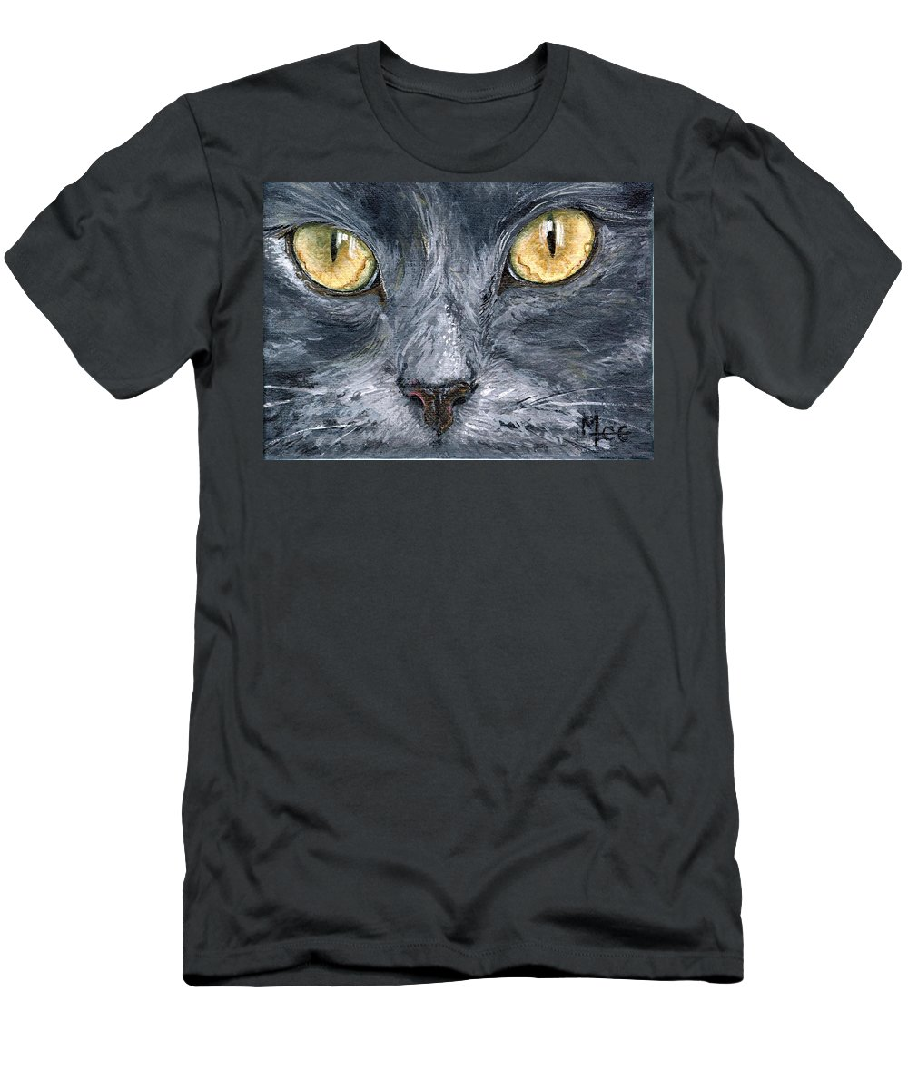 Charity Men's T-Shirt (Athletic Fit) featuring the painting Smokey by Mary-Lee Sanders