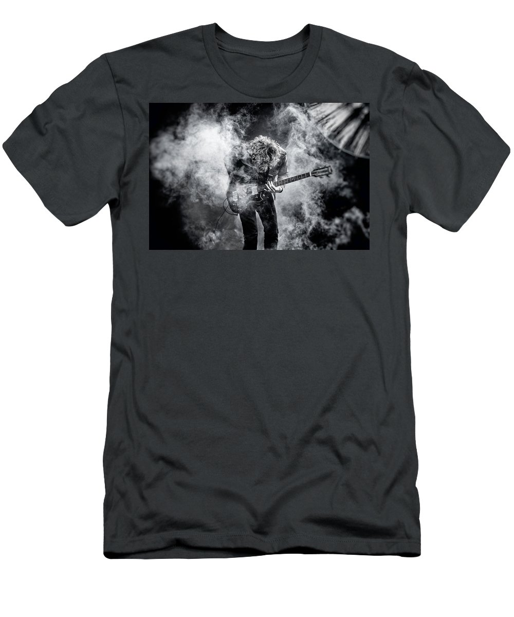 Alex Szopa Men's T-Shirt (Athletic Fit) featuring the photograph Smoky Rock by Alex Szopa