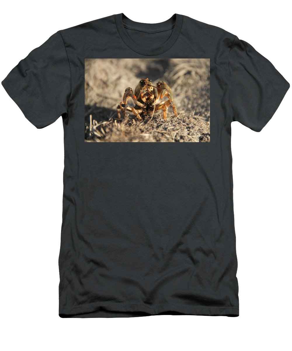 Crawfish Men's T-Shirt (Athletic Fit) featuring the photograph Snappy by Samantha Flamingos