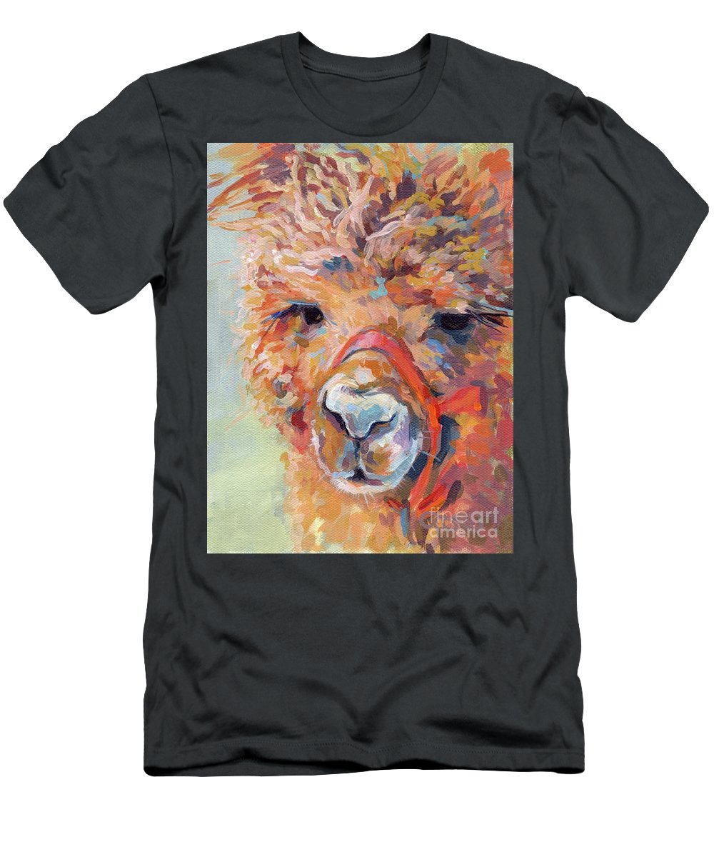 Llama Men's T-Shirt (Athletic Fit) featuring the painting Snickers by Kimberly Santini