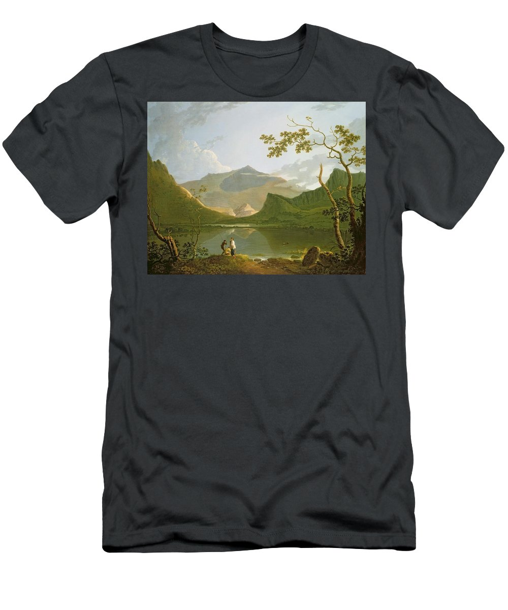 Snowdon Men's T-Shirt (Athletic Fit) featuring the painting Snowdon by Richard Wilson