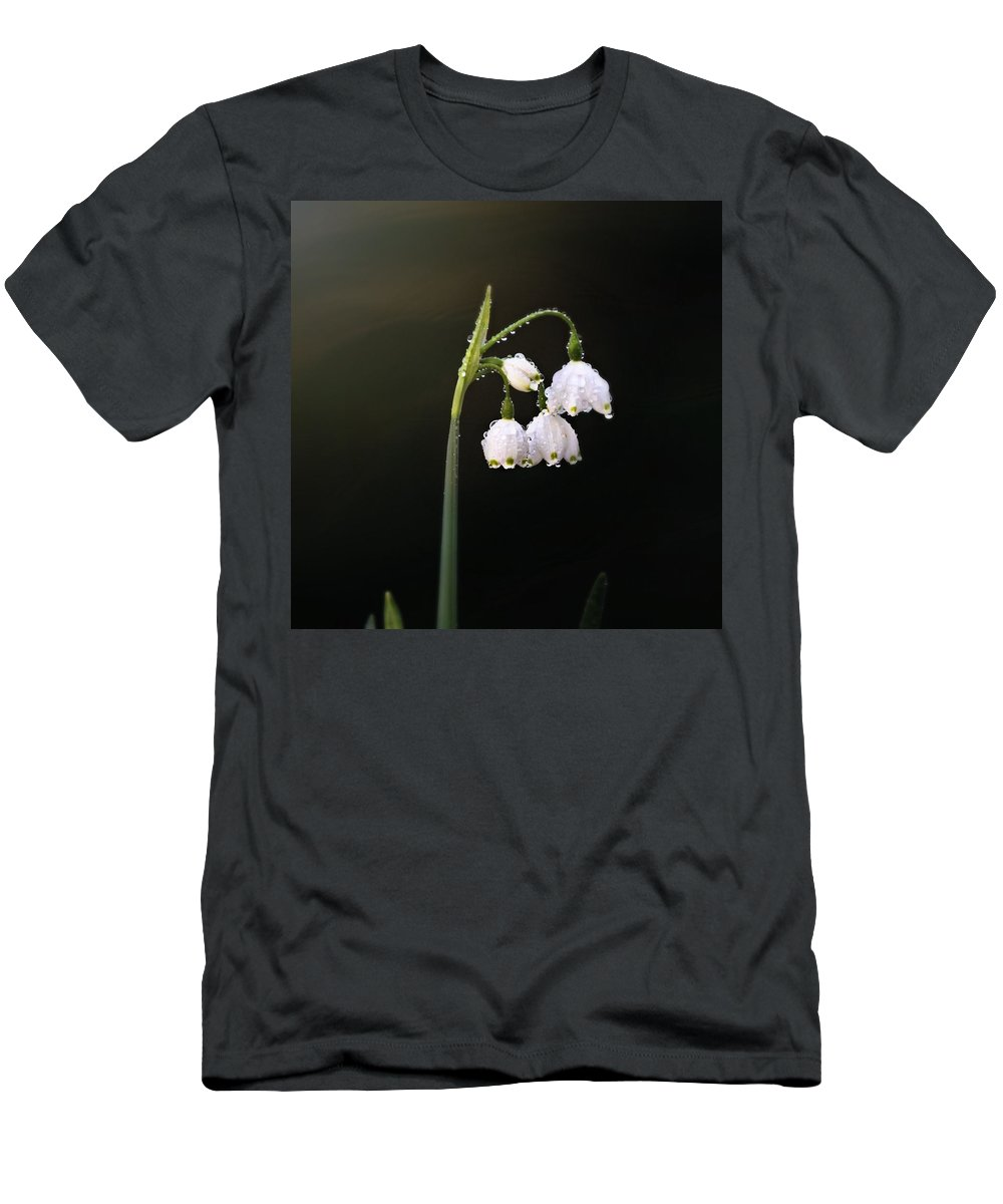 Natural Men's T-Shirt (Athletic Fit) featuring the photograph Snowdrops In Water by Katie Wing Vigil