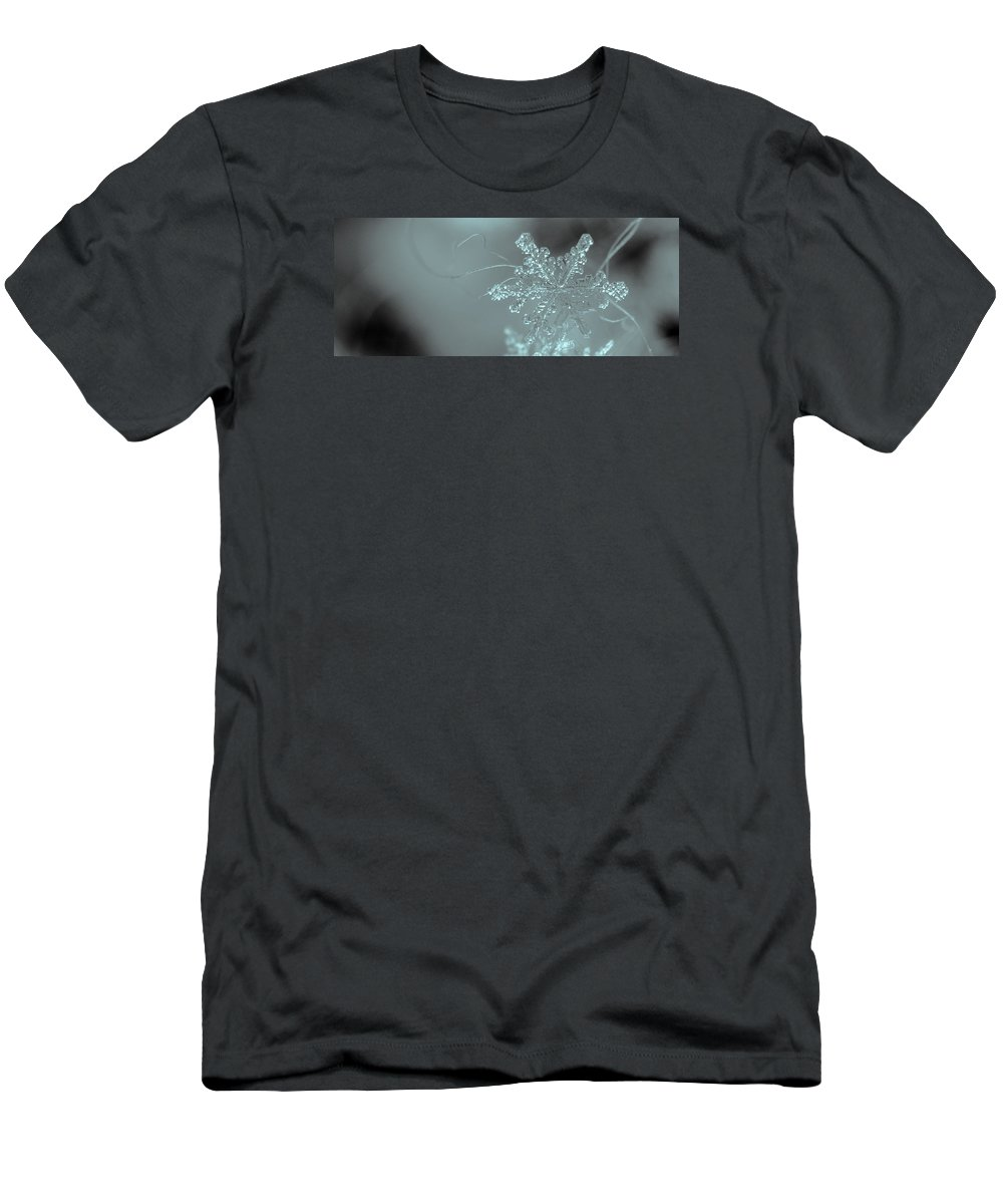 Snow Men's T-Shirt (Athletic Fit) featuring the photograph Winter's Perfect Gift by Joy McAdams